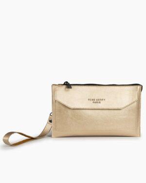 کیف دستی زنانه کوچک - طلایی - رو به رو