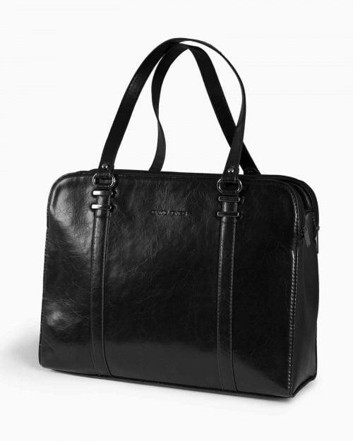 کیف دستی مشکی زنانه - مشکی - رو به رو