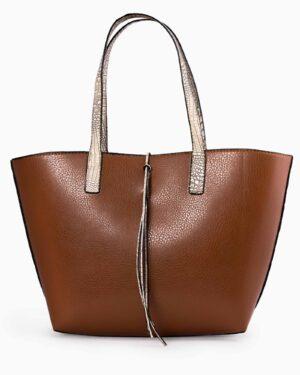 کیف دستی پوست ماری اسپرت - قهوه ای - رو به رو