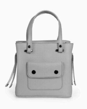 کیف دستی کوچک زنانه اسپرت - طوسی کمرنگ - رو به رو
