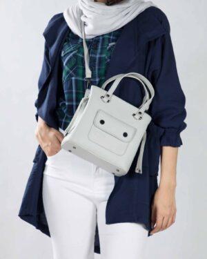 کیف دستی کوچک زنانه اسپرت - طوسی کمرنگ - محیطی