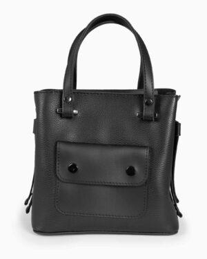 کیف دستی کوچک زنانه اسپرت - مشکی - رو به رو