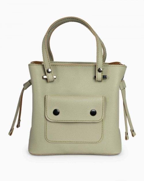 کیف دستی کوچک زنانه اسپرت - پسته ای - رو به رو