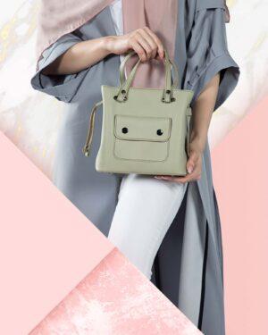 کیف دستی کوچک زنانه اسپرت - پسته ای - محیطی زنانه