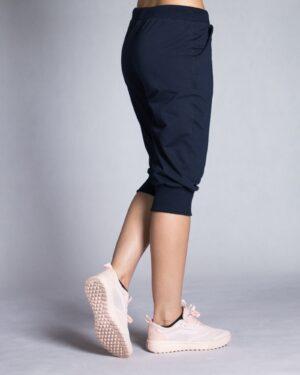 شلوارک زنانه ورزشی بلند - سرمه ای تیره - بغل