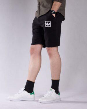 شلوارک ورزشی مردانه مشکی - مشکی - بغل