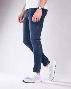 شلوار جین تیره مردانه - آبی تیره - بغل