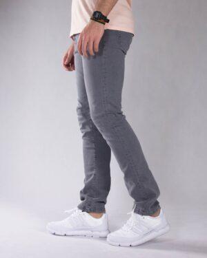 شلوار جین خاکستری مردانه - خاکستری - بغل