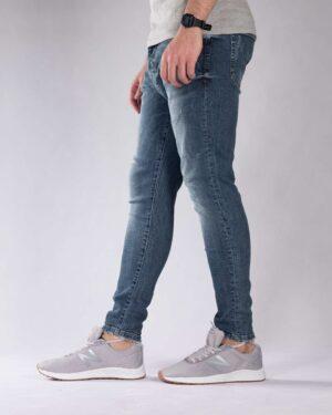 شلوار جین زخمی مردانه - آبی نفتی - بغل