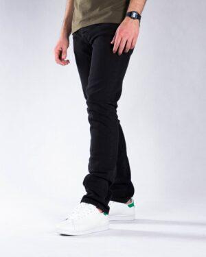 شلوار جین مشکی ساده مردانه - مشکی - بغل