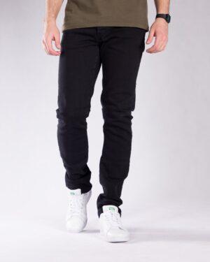 شلوار جین مشکی ساده مردانه - مشکی - رو به رو