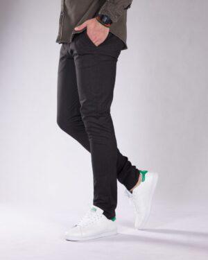 شلوار پارچه ای راسته مردانه - خاکستری تیره - بغل