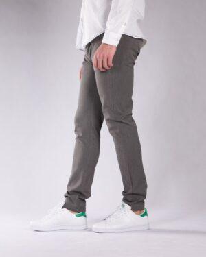 شلوار پارچه ای مردانه خاکستری - خاکستری - بغل