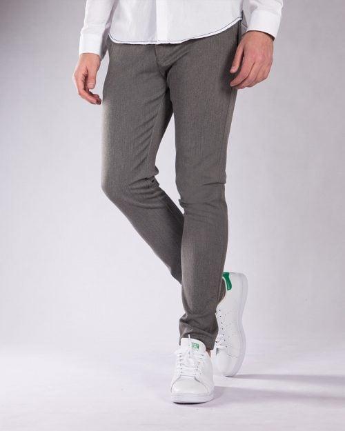 شلوار پارچه ای مردانه خاکستری - خاکستری - رو به رو