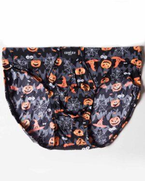 شورت مردانه اسلیپ طرح هالووین - مشکی - رو به رو