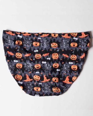 شورت مردانه اسلیپ طرح هالووین - مشکی - پشت
