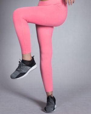 لگ ورزشی زنانه ساده - صورتی- روبه-رو