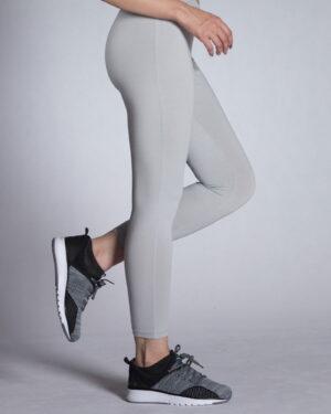 لگ ورزشی زنانه ساده - طوسی کمرنگ -بغل
