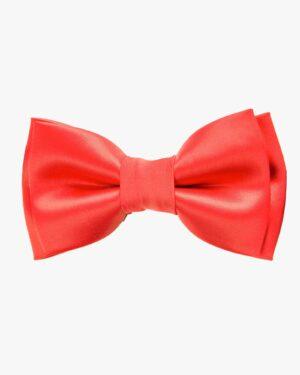 پاپیون مردانه قرمز ساده - قرمز روشن