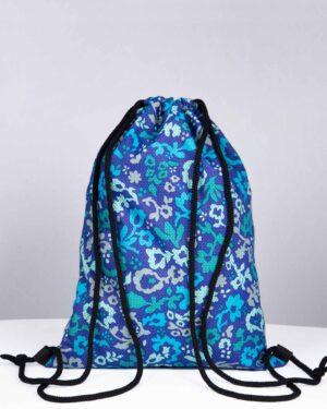 کوله ورزشی گلدار مدل آدیداس - آبی بنفش تیره - پشت