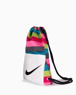 کیف اسپرت رنگی مدل نایک - سفید - بغل