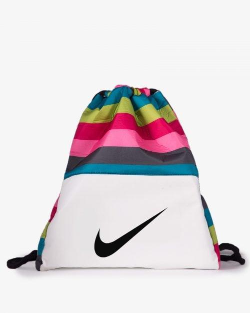 کیف اسپرت رنگی مدل نایک - سفید - رو به رو
