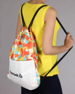 کیف اسپرت طرح دار مدل ریبوک - خردلی - زنانه