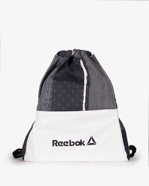کیف طرح دار ورزشی مدل ریبوک - مشکی - رو به رو