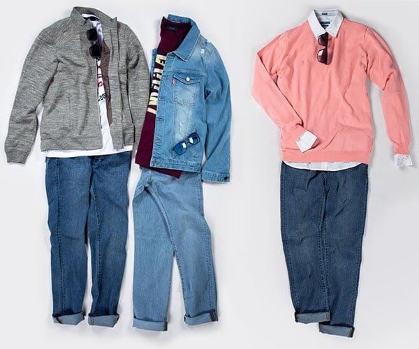 سه ست لباس در رنگ های مختلف و به همراه عینک در فروشگاه سارابارا