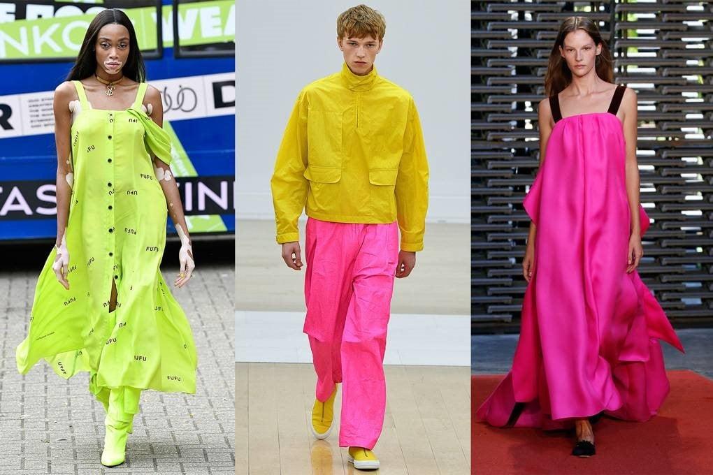 سه ست مختلف از لباس هایی با رنگ های نئون
