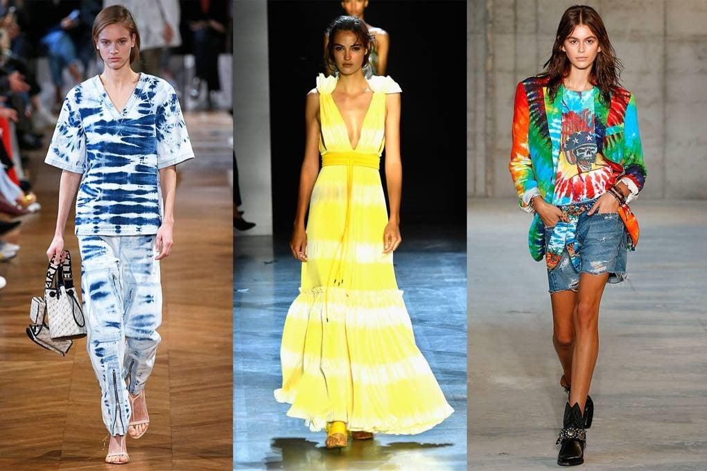 سه ست متفاوت از لباس هایی با پارچه شیپوری
