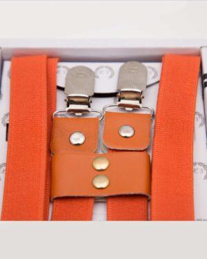 ساس بند مردانه کشی - قرمز نارنجی - سگک قفلی