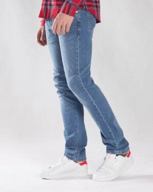 شلوار جین آبی راسته مردانه - آبی - بغل