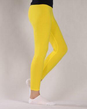 لگ ساده نخی زنانه - زرد - بغل