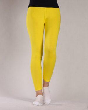 لگ ساده نخی زنانه - زرد - رو به رو