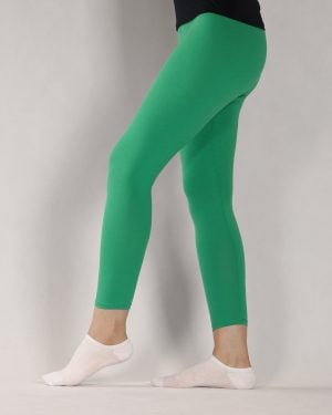 لگ ساده نخی زنانه - سبز چمنی - بغل