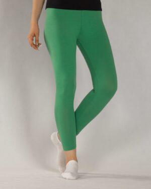 لگ ساده نخی زنانه - سبز چمنی - رو به رو