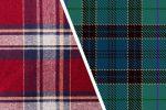 دو پارچه چهارخانه قرمز و سبز تیره