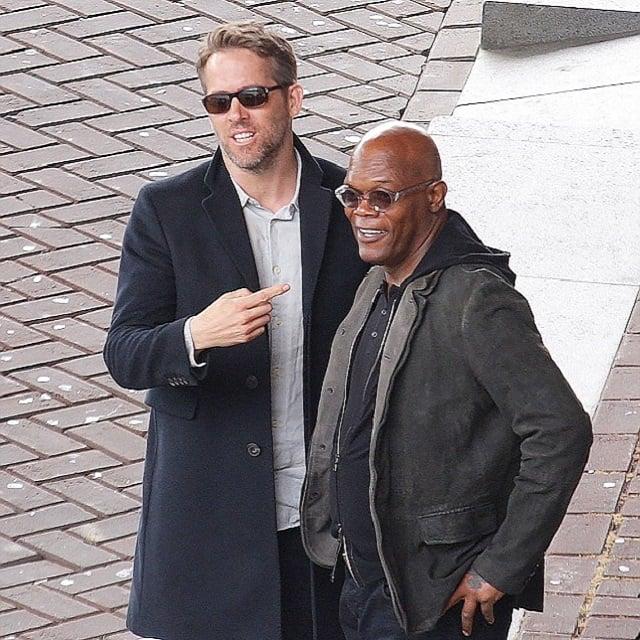 رایان رینولدز و ساموئل جکسون در فیلم محافظ مزدور. ست پاییزی سویشرت و کت