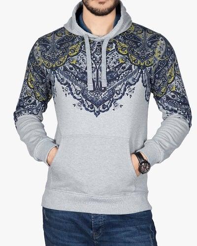 هودی طرح سنتی مردانه روی شلوار جین