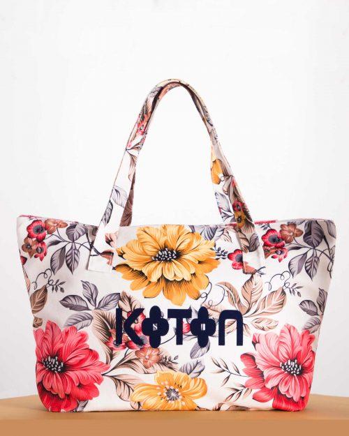 کیف دستی زنانه مدل کوتون - سفید - رو به رو