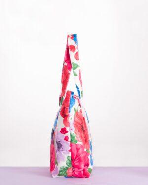 کیف زنانه گلدار طرح کوتون - سفید - بغل