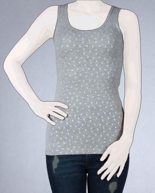 تاپ زنانه طرح دار ملانژ-روبه-رو