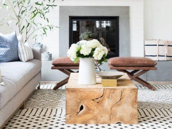 چیدمان منزل با تمرکز روی رنگ سفید و آبی و با استفاده از گیاه - مجله مد و فشن