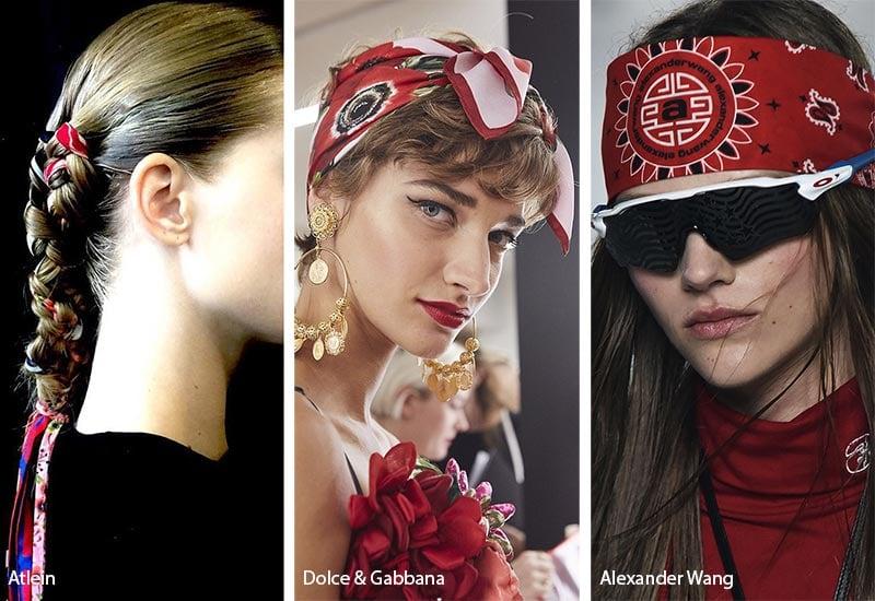 استفاده از روسریهای کوچک و بزرگ به عنوان هدبند و اکسسوری مو زنانه