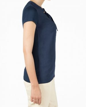 تیشرت سرمه ای ساده زنانه - سرمه ای - بغل