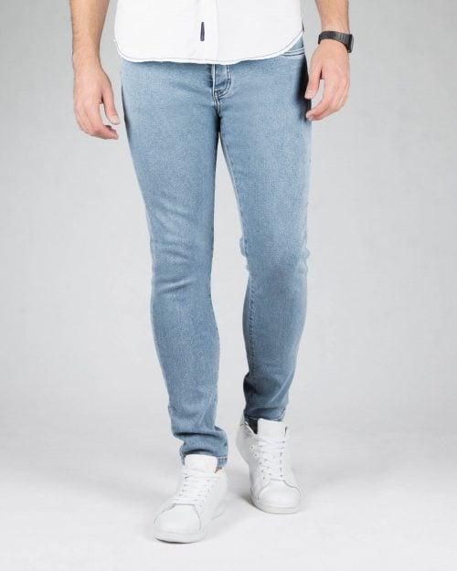 شلوار جین آبی روشن اسپرت مردانه - آبی روشن - رو به رو
