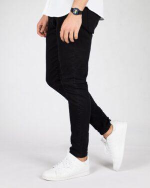 شلوار جین اسپرت مشکی مردانه - مشکی - بغل