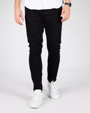 شلوار جین اسپرت مشکی مردانه - مشکی - رو به رو