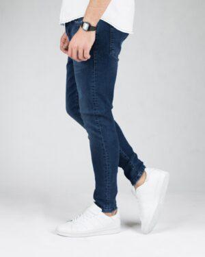 شلوار جین تیره اسپرت مردانه - آبی تیره - بغل شلوار